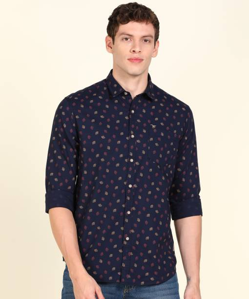 FLYING MACHINE Men Printed Casual Blue Shirt
