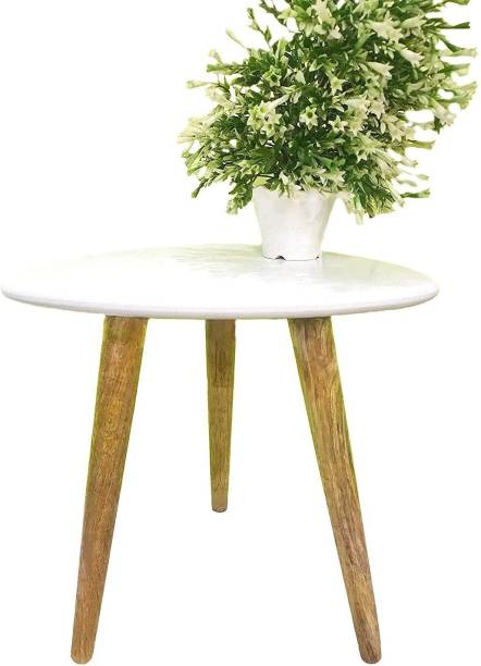 GLORIEUX ART Triangle Shape End, Coffee Table Modern Minimalist Side Table for Living Room, Balcony and for Tea and Coffee Serve Solid Wood Side Table
