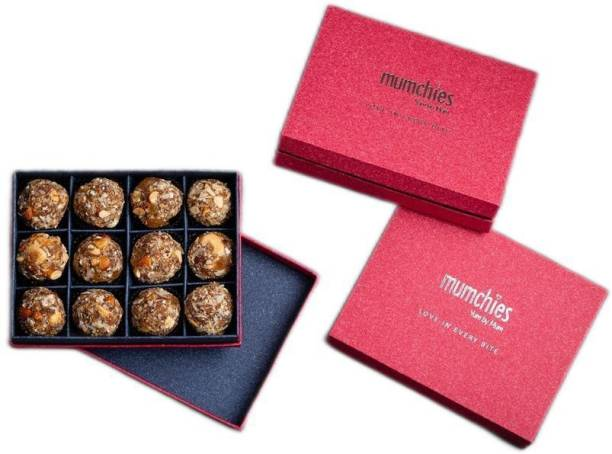MUMCHIES Dry-Fruit laddus in a Exquisite Gift Hamper Box Festive Gift Box