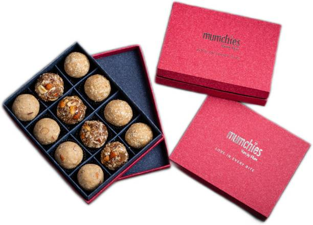MUMCHIES Assorted Laddus in a Exquisite Gift Hamper Box Festive Gift Box