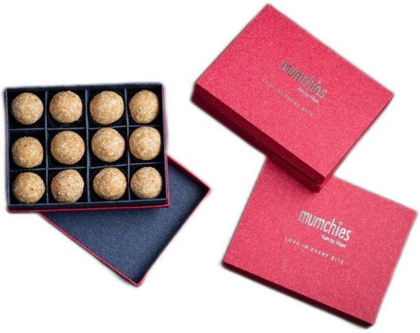 MUMCHIES Peanut-Jaggery laddus in a Exquisite Gift Hamper Box Festive Gift Box