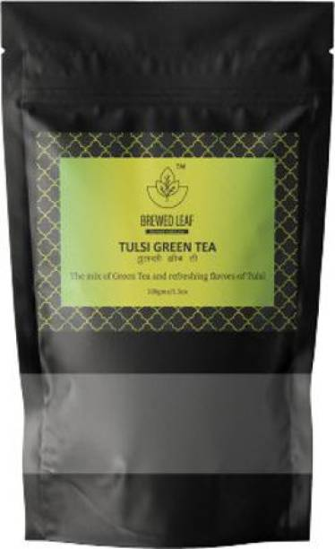 brewed leaf TULSI GREEN TEA,100g Tulsi Tea Pouch