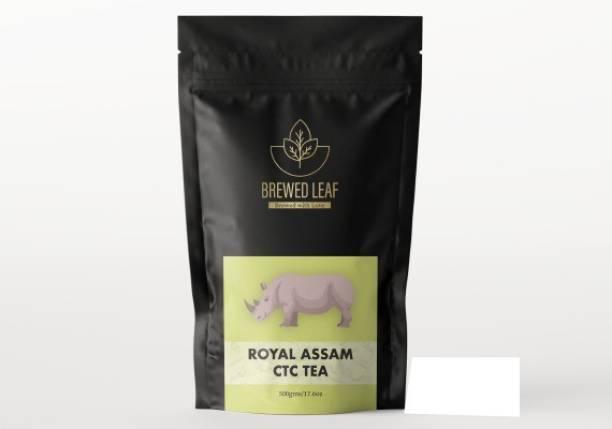 brewed leaf ROYAL ASSAM CTC,500g Unflavoured Tea Pouch
