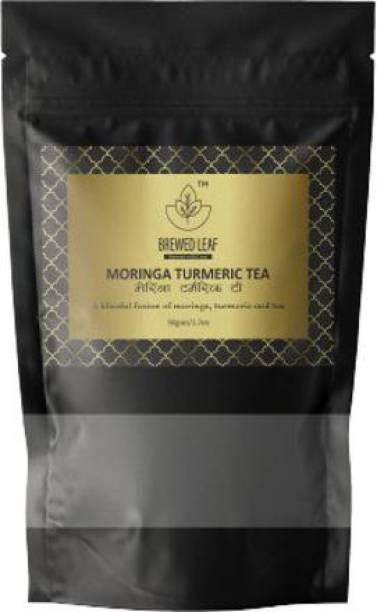 brewed leaf MORINGA TURMERIC TEA,50g Turmeric Herbal Tea Pouch