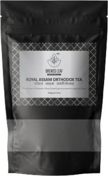 brewed leaf ROYAL ASSAM ORTHODOX,100g Unflavoured Black Tea Pouch