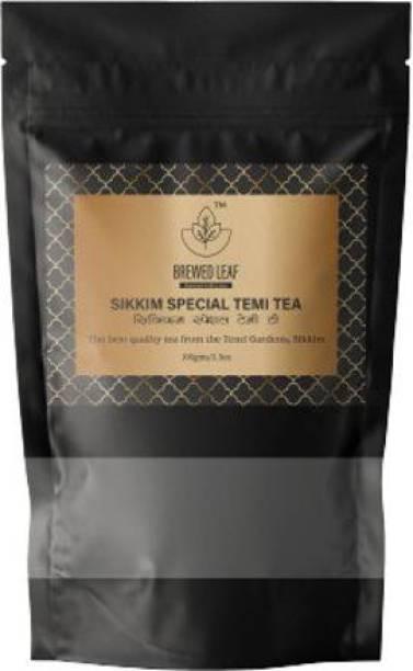 brewed leaf SIKKIM SPECIAL TEMI TEA,100g Unflavoured Black Tea Pouch
