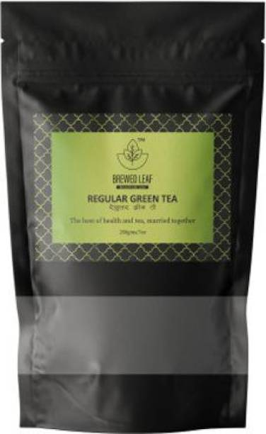 brewed leaf REGULAR GREEN TEA,200g Unflavoured Green Tea Pouch