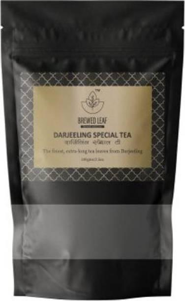 brewed leaf DARJEELING SPECIAL TEA,100g Unflavoured Black Tea Pouch