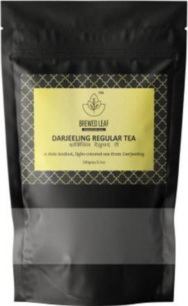 brewed leaf DARJEELING REGULAR TEA,100g Unflavoured Black Tea Pouch