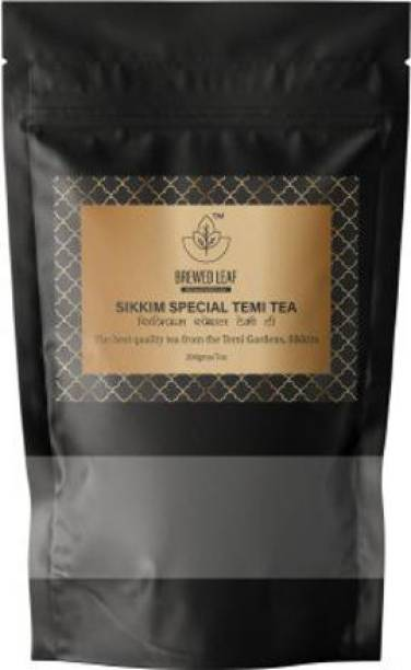 brewed leaf SIKKIM SPECIAL TEMI TEA,200g Unflavoured Black Tea Pouch
