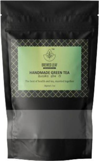 brewed leaf SPECIAL HANDMADE GREEN TEA,50g Unflavoured Green Tea Pouch