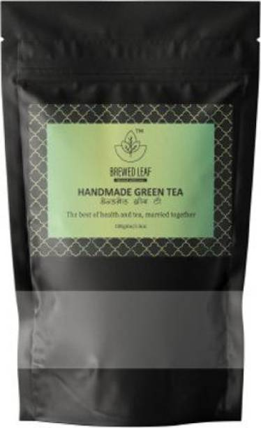 brewed leaf SPECIAL HANDMADE GREEN TEA,100g Unflavoured Green Tea Pouch