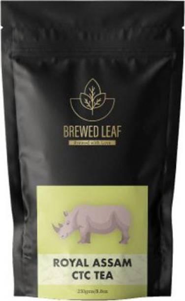 brewed leaf ROYAL ASSAM CTC,250g Unflavoured Tea Pouch