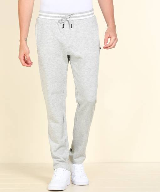 INDIAN TERRAIN Solid Men Grey Track Pants