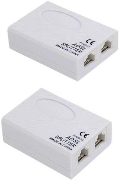 BIGGEAR (Packof 2) ADSL Splitter/ADSL Filter/DSL Filter RJ11 for Landline Telephone and Broadband Modem Box CONNECTOR Wire Connector