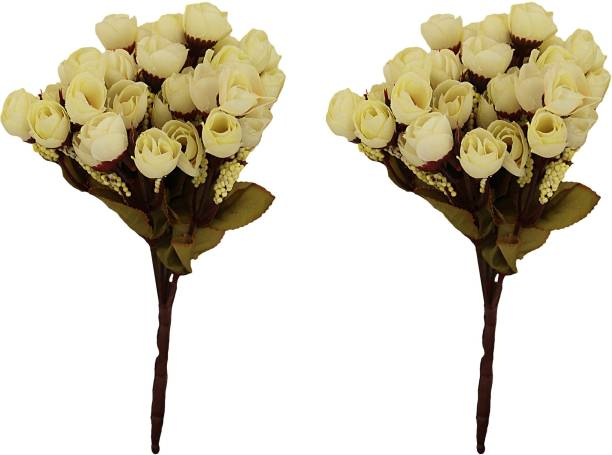 TIED RIBBONS White Rose Artificial Flower