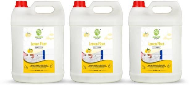 GROVANTI ORGANIC Lemon Floor Cleaner(5Liter+5Liter+5Liter)Combo Pack 3 Lemon