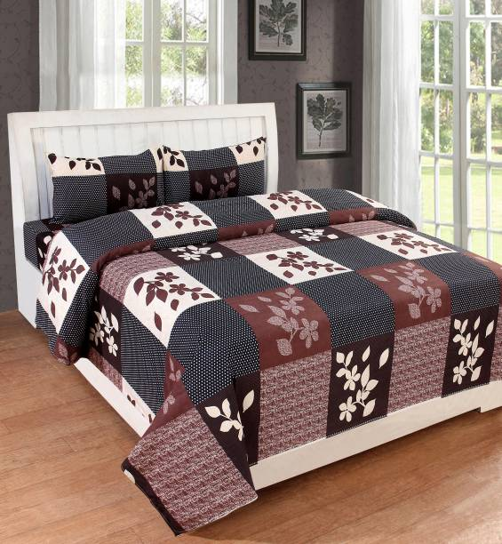 Bedress 140 TC Cotton Double King Printed Bedsheet