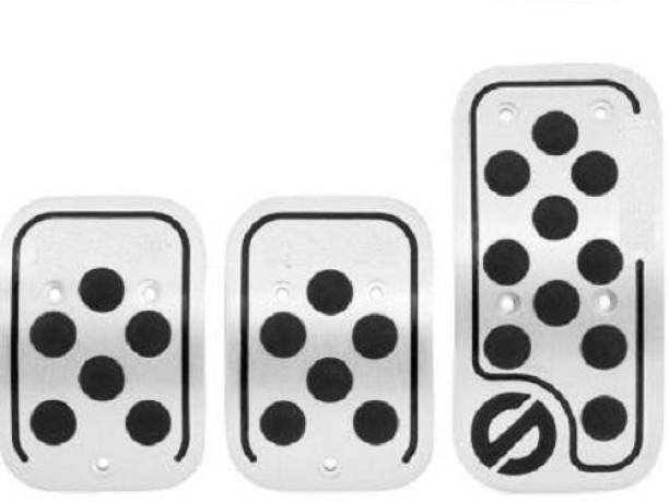 graceride ANTI SLIP CAR PEDAL KIT CLUTCH PEDAL , ACCELERATOR PEDAL , BRAKE PEDAL ( Black , SILVER ) Car Pedal
