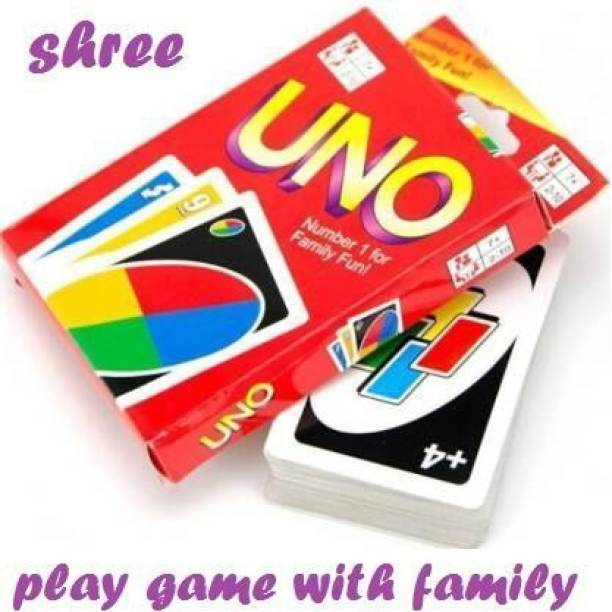Shree UNO Games Fast Fun FAMILY CARD GAME COMPLETE PACK OF 112 CARDS