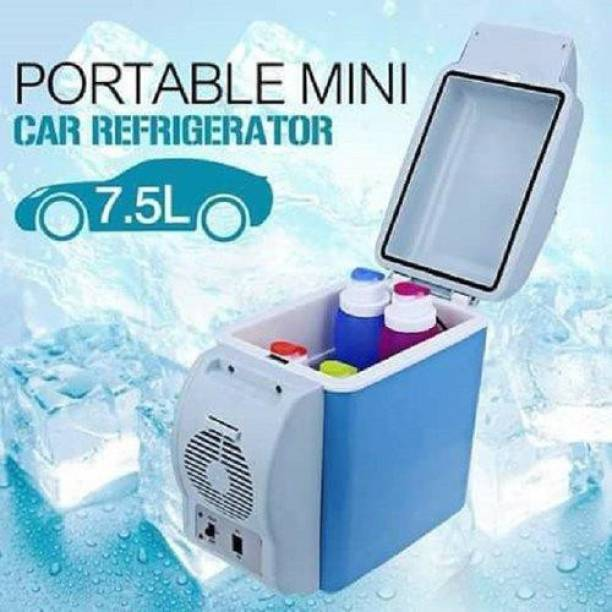 Mopi Mini Car Refrigerator-001 Mini Car Refrigerator, 12V 7.5L Multi-Function Portable Refrigerator Cooler Warmer Heating Electric Fridge Box for Travel, Fishing 7.5 L Car Refrigerator