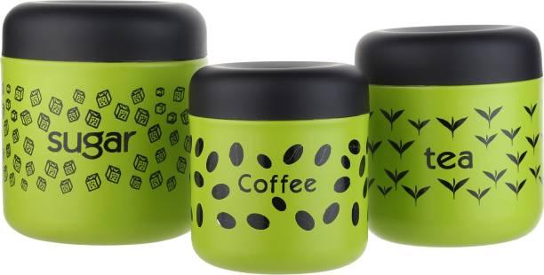 Goods&Fleet  - 700 ml, 500 ml, 300 ml Steel Tea Coffee & Sugar Container