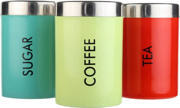 Goods&Fleet  - 2100 ml Steel Tea Coffee & Sugar Container