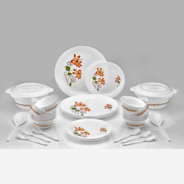 VHKD Pack of 36 Plastic Plastic Multipurpose, Exclusive and Microwave Safe Dinner Set