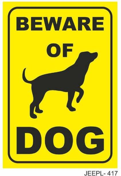 JEEPL BE WARE OF DOG SIGNAGE | Warning Sign Board |, Duty Sign Board | Beware Of Guard Dog Sign boards for Home, Gate, Restaurant ,Offices, Clinics Emergency Sign
