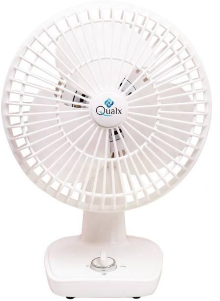 QUALX Table Cum Wall FAN 200 mm 3 Blade Table Fan