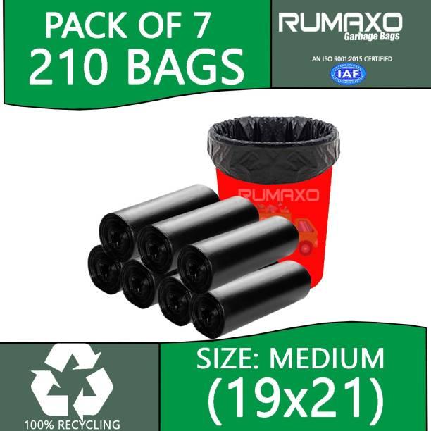 Rumaxo Dustbin Covers Clean Home 100% Biodegradable Garbage bags 210 Pcs Medium 25.01 L Garbage Bag
