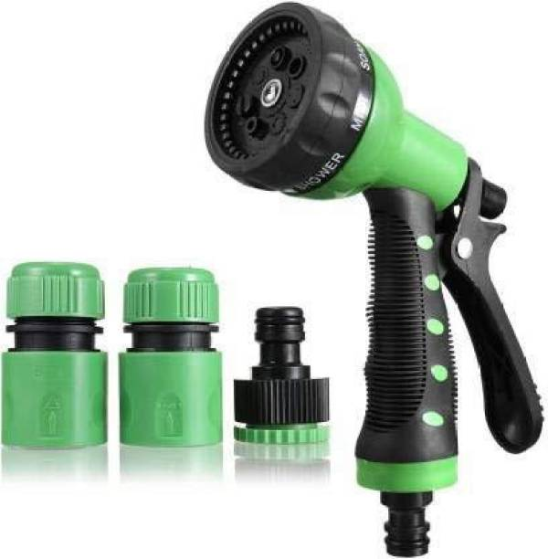 Crazzy Professional Hose Water Spray Gun for 8 Function High Pressure Nozzles Used for Car/Bike/Gardening Wash Nozzle Water Spray Gun with Nozzle Set, Anti-Slip Design 0 L Hose-end Sprayer