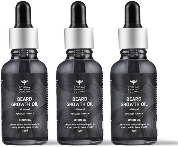 BOMBAY SHAVING COMPANY Natural Onion Beard Oil For Stimulating Healthy & Fast Beard Growth (90ml) Hair Oil