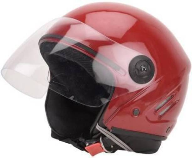 Speedfly HALF FACE UNISEX HELMET Motorbike Helmet RED Motorbike Helmet