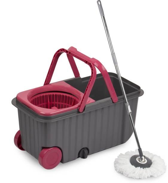 POLYSET Wheel Mop Bucket Pink Mop