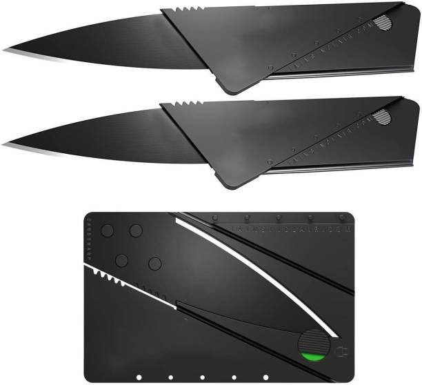 Epyz Micro survival safety Pocket Knife (Pack Of 2/Black) Pocket Knife
