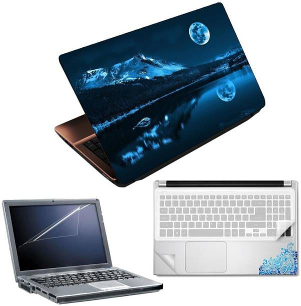 FineArts Great Design 4 in 1 Laptop Skin Pack with Screen Guard, Key Protector and Palmrest Skin Combo Set