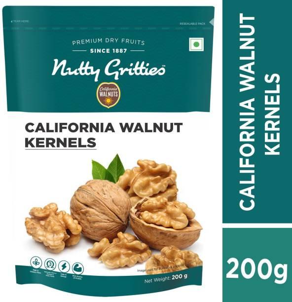 Nutty Gritties Californian Walnut Kernals - Pack of 2(200 GMS each) Walnuts