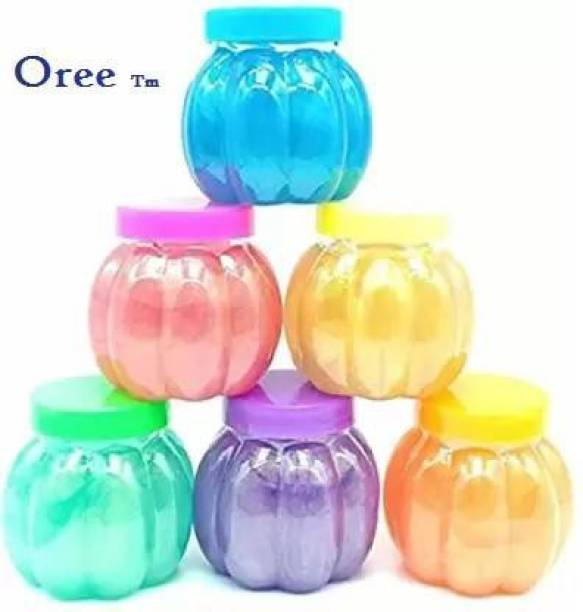 OREE Soft and Non-Sticky Slime with Fruit Fragrance Set of 6 Multicolor Putty Toy Multicolor Putty Toy