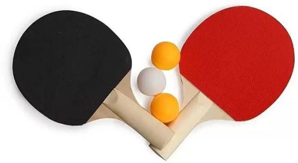 Swami WOODEN TABLE TENNIS KIT Black, Multicolor Table Tennis Racquet