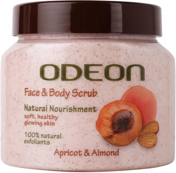 ODEON Apricot & Almond Face and Body Scrub | Natural Nourishment Scrub