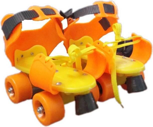 Lakshita Enterprise Super Quality Adjustable Red Color Quad Shoe Roller Skates Inline Skates Suitable for Age Group 7 to 11 Years (Red) Quad Roller Skates - Size NA UK