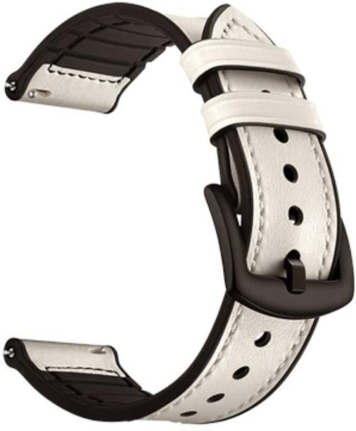 V-TAN Leather Plus Silicone 20mm Band Strap Smart Watch Strap