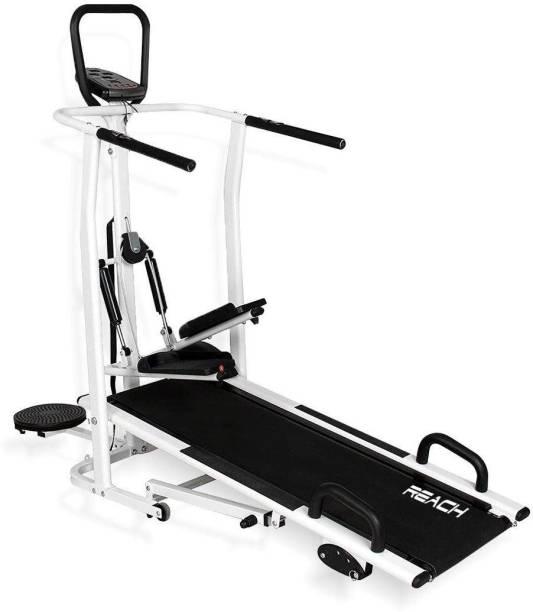 Reach T-100 Manual Treadmill 4in 1 Running Machine With Twister Stepper Jogger Treadmill