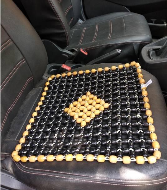 Q1 Beads Wooden Bead Seating Pad For  Mahindra, Suzuki, Hyundai, Maruti Suzuki, Toyota, Tata, Datsun, Fiat, Honda, Jeep, Force 800, WagonR, Swift Dzire, Kwid, Santro, KUV100, Baleno, Creta, Compass, Grand i10, Indica, S-Cross, Indigo, Thar, i10 Active, Universal For Car