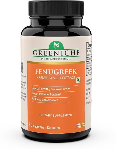 Greeniche Fenugreek for Healthy Blood Sugar Level - 60 Veg Capsules