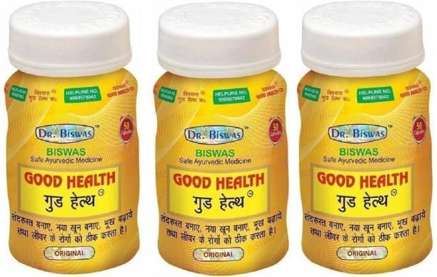 GOOD HEALTH CAP Dr. Biswas Safe Ayurvedic Capsules Pack of 3 (50X3)