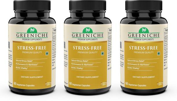 Greeniche Plant Based Stress-Free for Physical and Mental Stress Relief - 60 CAP (PACK OF 3)