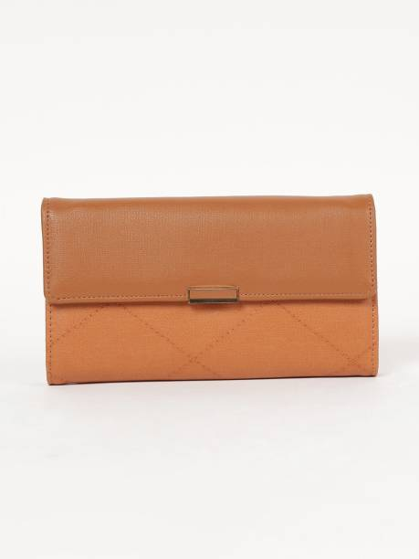 GINGER Women Tan Artificial Leather Wallet