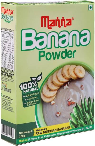 Manna Banana Cereal Mix for Babies, Infants, 200g | Banana Powder | Kannankaya Powder | Made from high quality Nendran Bananas Cereal